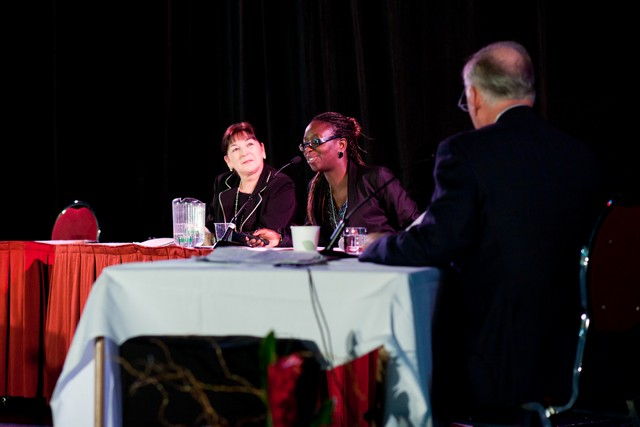 Marie Champoux, Bano Soumaré et Michel Clair