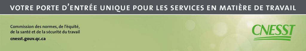 Bandeau organisationnel CNESST mai2016